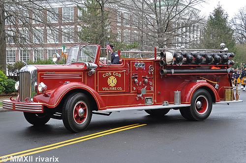 Engine 23 is a 1947 Mack pumper.