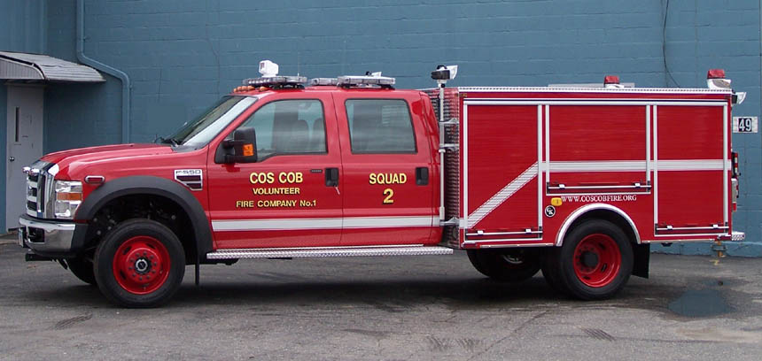 Squad 2 is a 2008 Ford F-550 utility truck, outfitted by Gowans-Knight